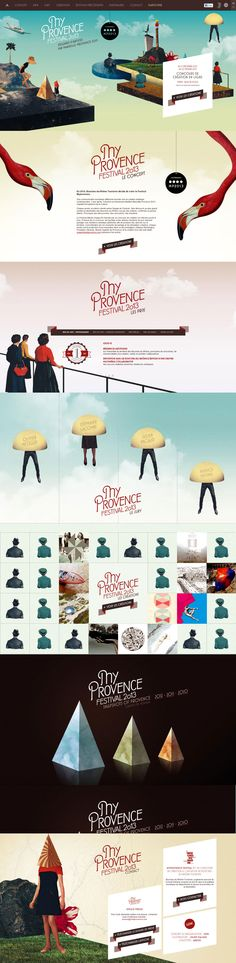 Unique Web Design, My Provence #WebDesign #Design (http://www.pinterest.com/aldenchong/)