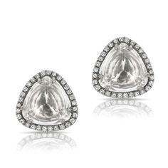 At Anne Sisteron Fine Jewelry, Buy oxidized white gold white topaz diamond stud earrings online White Topaz, White Gold, Diamond Jewelry, Diamond Stud, Geometric Jewelry, On Your Wedding Day, Bridal Jewelry, Stud Earrings, Engagement Rings