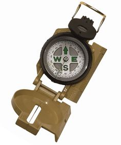 Military Compass - Liquid Filled Outdoor Hiking Camping Tan Marching Compasses