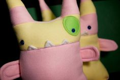 Miss Pinky Pointy Head Plush Monster Thing by amonstertolove, $40.00
