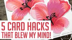 cardmaking tips: 5 Card Making Hacks That Blew My Mind! by Justine Horvey Card Making Tips, Card Making Tutorials, Card Making Techniques, Making Cards, Video Tutorials, Embossing Techniques, Embossing Powder, Pink Orchids, Scrapbooking
