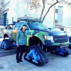 Matte blue ford f150 raptor truck wrap matte vehicle for Huston motors used cars