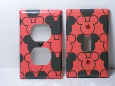 Mickey Mouse Switch/Outlet Plates Nursery Set of Two. $5.99, via Etsy.