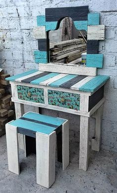 Wood patio furniture simple and wooden outdoor furniture on sale. Pallet Patio Furniture, Reclaimed Wood Furniture, Furniture Sale, Furniture Projects, Rustic Furniture, Cheap Furniture, Discount Furniture, Pallet Tables, Furniture Online