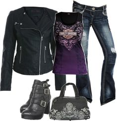 """Biker Chic"" by my3ms on Polyvore"