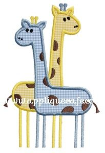 Giraffes Applique Design