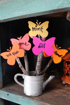 scrumdilly-do!: Earth Day: paint chip and found stick plant markers