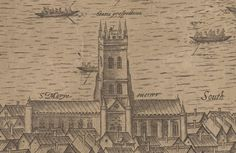 St Mary Overie (now Southwark Cathedral) London History, British History, Southwark Cathedral, London Theatre, Greater London, Educational Websites, Old London, Saints, Mary