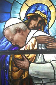 Our Lady of Częstochowa (dear to the hearts of the Polish) and John Paul II: