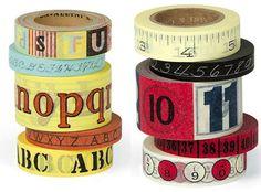 Cavallini Alphabet & Numbers Paper Tape