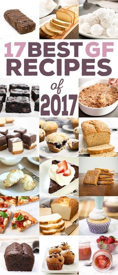 The very best gluten free recipes of 2017, from number 17 all the way through number 1. We're counting down the most popular recipes here on the blog, all posted when the calendar said 2017. Let's celebrate 2017 with the very best!