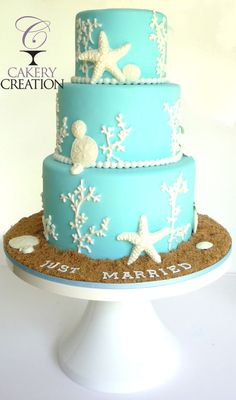 Beach Wedding cake - by Cakery Creation