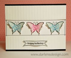 Clean and Simple Butterflies by darlenedesign - Cards and Paper Crafts at Splitcoaststampers