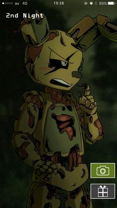 Springtrap: S-stop recording S-indy!! Sindy: NEVER! Cinder: Hehe!! Ennard:  Stop laughing Cin, I remember a similar scene.. Cinder: Ya! When I recorded you!