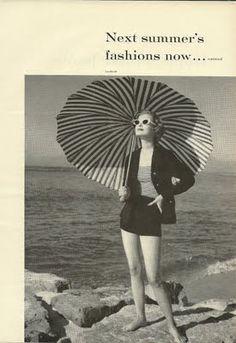 Short shorts and a parasol.