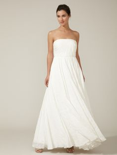 Silk Georgette Star Embroidered Gown by BHLDN at Gilt $499 SALE
