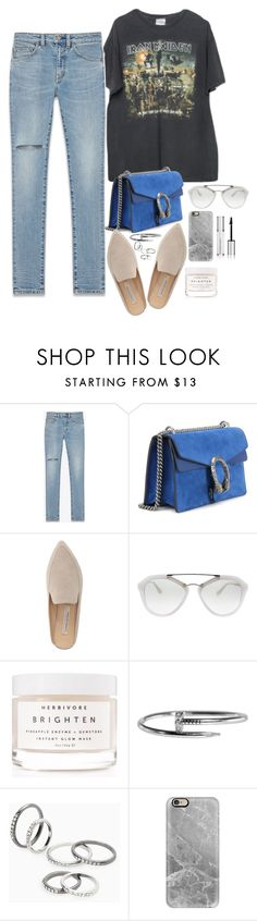 """Untitled #1766"" by samikayy76 on Polyvore featuring Brandy Melville, Yves Saint Laurent, Gucci, Kristin Cavallari, Prada, Herbivore, MANGO, Casetify and Givenchy"