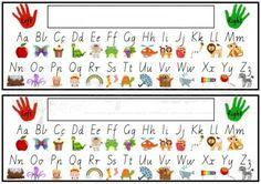 Printable Alphabet Desk Strip