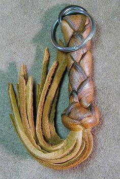 Elk Leather Key Fobs from Davie Leather and Braid