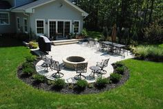 Large backyard landscaping ideas are quite many. However, for you to achieve the best landscaping for a large backyard you need to have a good design. Concrete Patios, Brick Patios, Concrete Patio Designs, Stone Patios, Paver Stones, Cement Patio, Flagstone, Backyard Patio Designs, Backyard Landscaping