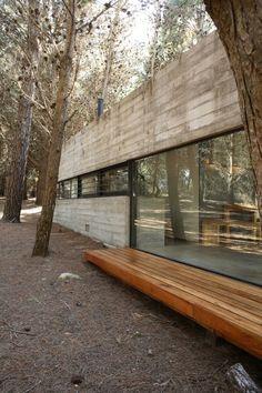 Galería de Casa Mar Azul / BAK Arquitectos - 19 Architecture Design, House Plans, House Design, Wood, Building, Design Ideas, Log Houses, Luxury Camping, Cottage Design