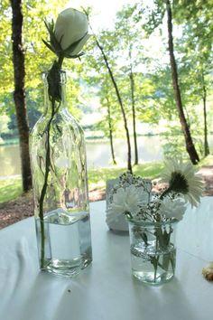 Hochzeit am Weiher Deko vom Haus, Motto Sommerhochzeit weiß und Mint