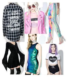 Dollskill☮ Kawaii Clothing by madame-taylor on Polyvore featuring polyvore, fashion, style, Signature 8, Killstar, Jac Vanek, W. Frankie, The Ragged Priest, J. Valentine and clothing
