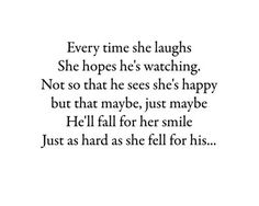 Or just knowing he's right over there makes me smile without thinking about it
