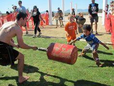 Do Jr. Spartans get a break from the Gladiators?  NO! AROO AROO!  #SpartanRace www.spartanrace.com
