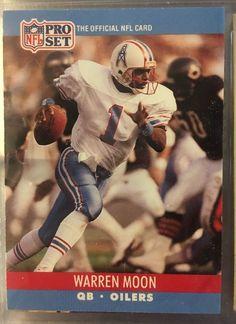 1990 Pro Set Football Warren Moon 517 Houston Oilers Near Mint Combined s H | eBay