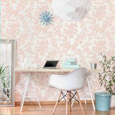 Perfect Feminine Rose Gold Paper - Crown Vintage Lace Rose Gold Wallpaper | Inspired Wallpaper