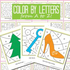Alphabet Color by Letter. A sheet for every letter from A to Z.