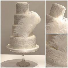 Great Gatsby Wedding Cake  Cake by TiersandTiaras