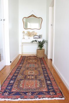 Persian Rugs - Hallway Runner - Rug runner for kitchen and hallway - Skinny hallway runner Mansion Homes, Upstairs Hallway, Small Hallways, Home Decor Quotes, 8x10 Area Rugs, Hallway Decorating, Decorating Ideas, Decor Ideas, Rugs In Living Room