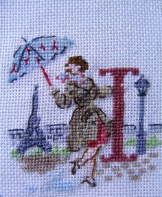I Cross Stitch Samplers, Cross Stitching, Christmas Alphabet, Cross Stitch For Kids, Letter I, Crossstitch, Needlework, Archive, Embroidery