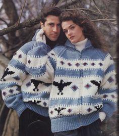 0d0ca38b177e Cardigan Knitting Patterns Jacket Sweater Northern Spirit Bouquet 1254 Bulky  Weight Yarn Men Women Loon Thunderbird Paper Original NOT a PDF