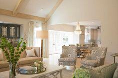 Neutral Living room. Neutral living room with Greek key sofa fabric. #LivingRoom #GreekKeyFabric #Sofa . Austin Bean Design Studio