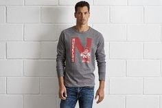 Tailgate Nebraska Thermal Shirt by  American Eagle Outfitters   Once known as the Nebraska Bugeaters, the university officially became the Cornhuskers starting in 1900. Shop the Tailgate Nebraska Thermal Shirt and check out more at AE.com.