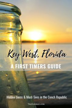 A First Timers Guide to Key West: Must-Sees and Hidden Gems in Florida's Conch Republic The First Timers Guide to has what you need if its your first trip or a cruise excursion. Theres hidden gems and other fun things to do in Key West, Visit Florida, Florida Vacation, Florida Travel, Florida Keys Honeymoon, Florida Trips, Florida Living, Sarasota Florida, Tampa Florida, Central Florida