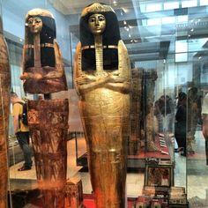 Egyptian Mummy Casings, beautiful gold craft
