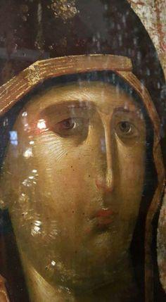 Byzantine Art, Byzantine Icons, Virgin Mary, Ikon, Fresco, Angel, Painting, Religious Pictures, Fresh