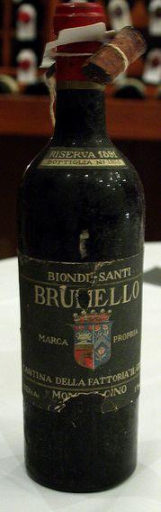 Italy Bucket List -- Biondi Santi Brunello Riserva