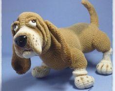 Basset Hound Puppy Amigurumi Crochet Dog Pattern PDF