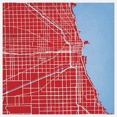 Chicago Map Print 12x12 now featured on Fab.