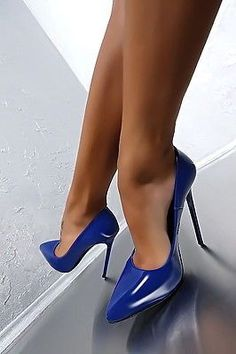 MADE IN ITALY CLASSIC LUXUS PIGALLE HIGH HEELS A75 PUMPS SCHUHE LEDER BLAU 43