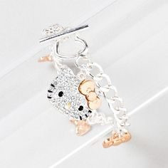 Hello Kitty Take a Bow Charm Bracelet for my daughter Avery:) Bow Bracelet, Bracelets, Hello Kitty Jewelry, Hello Kitty Toys, Gyaru Fashion, Pretty Cats, Pretty Kitty, Hello Kitty Collection, Rilakkuma