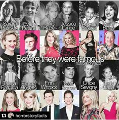 AHS cast then and now American Horror Story Actors, American Horror Story Asylum, American Horror Story Seasons, American Story, Native American Humor, Finn Wittrock, Angela Bassett, Evan Peters, Movies Showing