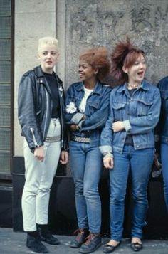 Post-punk 1980s Levi's fashion