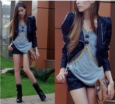 Look Rocker fashion e seus acessórios