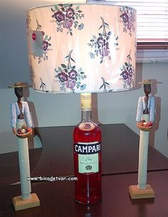 Campari Bottle Lamp - info@biradetvar.com